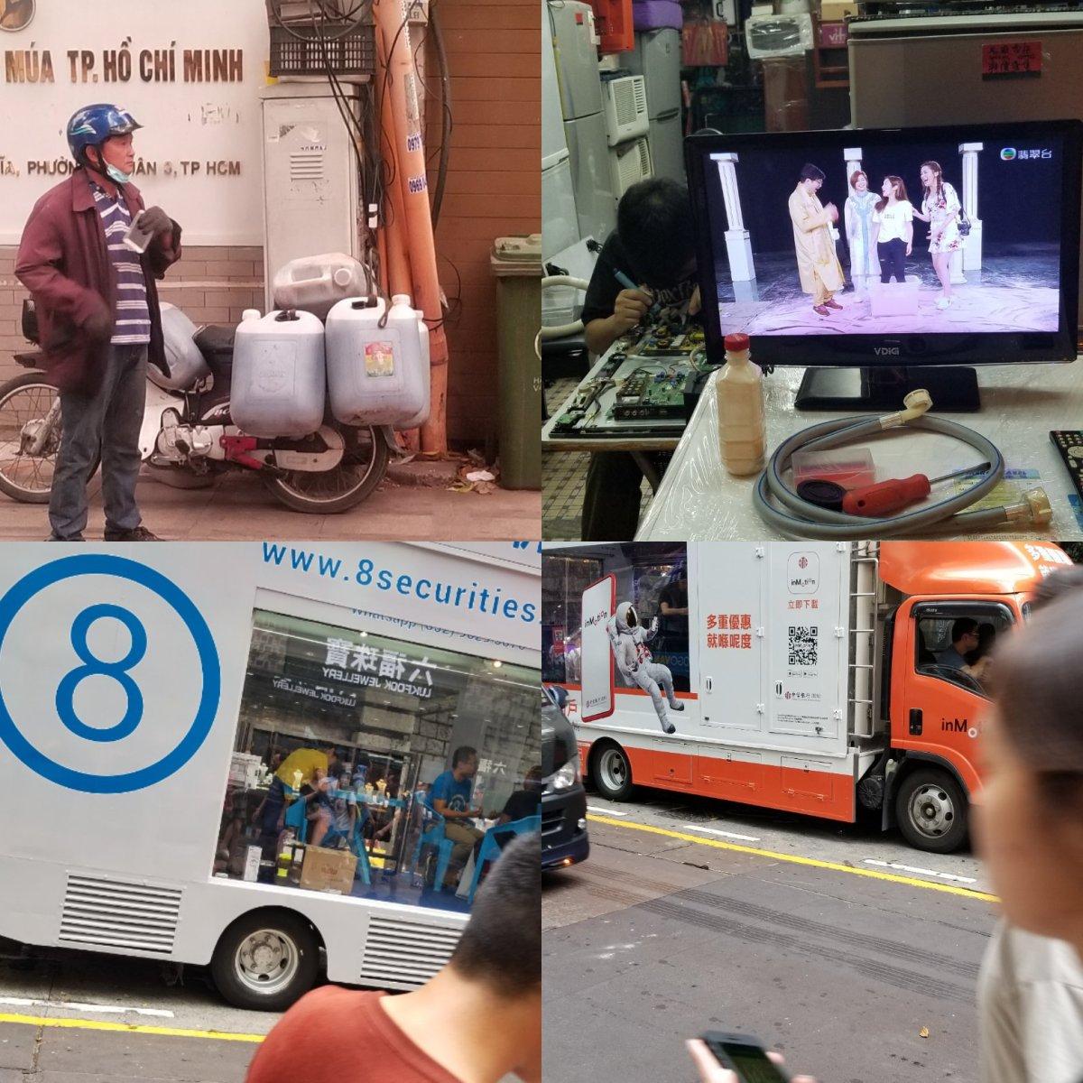 Asian sidewalk entrepreneurship steps up with service,convenience